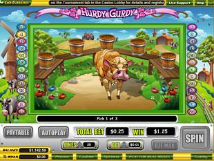 free Hurdy Gurdy slot bonus game