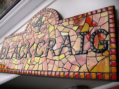 Stained glass and glass tile mosaic house number  (number 4) (fiona parkes) Tags: glass sign plaque handmade mosaic mosaictiles 4 mosaics stainedglass stained tiles housename housenumber grout number4 glasstiles stainedglassmosaic mosaichousenumber