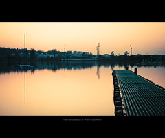 Urbanscape (Marc Benslahdine) Tags: sunset urban boats dock lac explore bateau ponton immeuble coucherdesoleil longexp longexposition poselongue tamronspaf1750mmf28xrdiii canoneos50d marcopix virychtillon marcbenslahdine marcopixcom etangdeviry