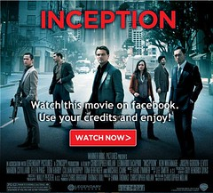 Inception facebook page
