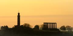 Calton Hill (Cowboy JuJu) Tags: longexposure sunset scotland nikon edinburgh slowshutter caltonhill nikkor55200vr scotlandsshame d7000