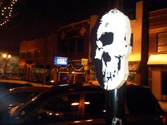 (Barrybu) Tags: street chicago art up stencil cyclops installation bolt saro
