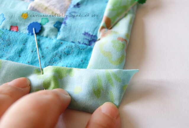 Tutorial: quilt self binding step 9