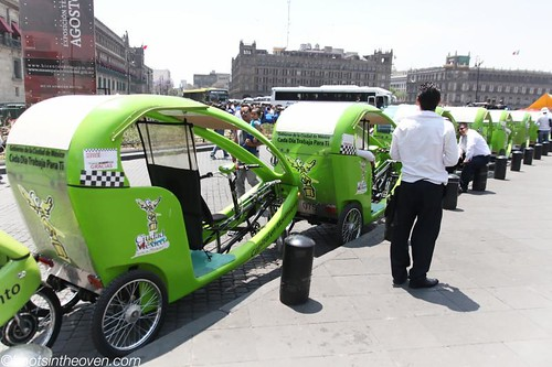 Bike Taxis in the Zocalo