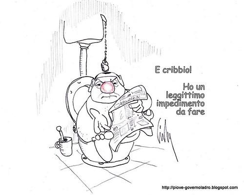 Cribbio!! Ho un legittimo impedimento da fare! by Livio Bonino