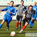 Jonathan Crawford and Ross O`Donoghue charge after the ball