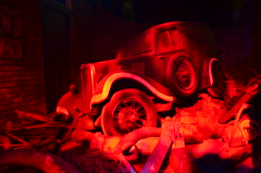 Bombed car from the Blitz (Ben Sutherland) Tags: uk cars car motors coventry bomb blitz westmidlands warwickshire carmuseum motorcars motormuseum cityofcoventry coventrymotormuseum carhistory thehistoryofmotoring historyofmotoring motorcarhistory benjaminsbritain