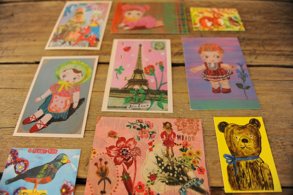 Razglednice z ilustracijami Nathalie Lete.
