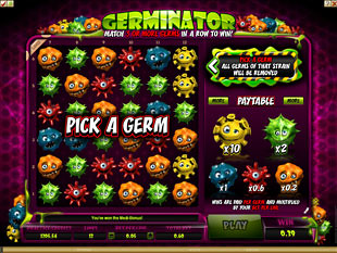 free Germinator gamble bonus game
