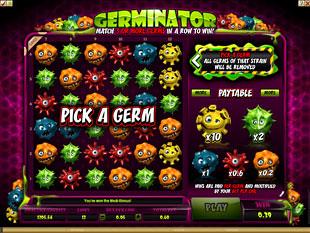 free Germinator gamble bonus game