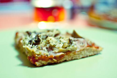 216/365 Autentica pizza casera recién hecha
