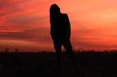 Just A Silhouette (Maaar) Tags: bali girl silhouette pose model sanur eveningcolor amazingsky img3852 seranganisland girlsilhouette justsilhouette siluetwanita