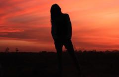 Just A Silhouette (ツMaaar) Tags: bali girl silhouette pose model sanur eveningcolor amazingsky img3852 seranganisland girlsilhouette justsilhouette siluetwanita