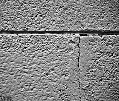 Rule of Thirds (EEKaWILL) Tags: bw white abstract black brick texture monochrome lines wall paint shadows decay neglected crack stupid rough straight derelict ruleofthirds f51