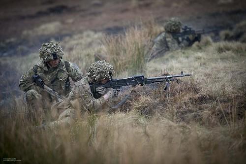 Soldier Firing GPMG