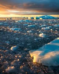 Austfonna Sunrise (Aerindad) Tags: ocean arctic svalbard glacier austfonnaglacier sunrise