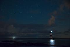 Navigating by starlight (eye see sound) Tags: penmon lighthouse wales cymru goleudy stars night coast anglesey mon bigdipper plough