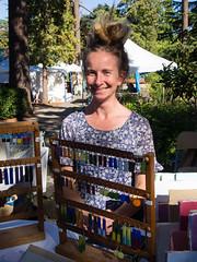 Julia Garretson, upcycler extraordinaire (marketkim) Tags: marketeers eugene oregon saturdaymarket festival artfair eugenesaturdaymarket artfestival