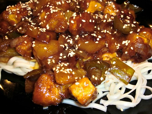 Sweet and Sour Tofu—it looks like takeout!