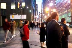 waiting (Ian Muttoo) Tags: street people woman toronto ontario canada man men night walking bay women walk gimp pedestrian clocktower motionblur wellington pedestrians baystreet bayst oldcityhall dsc2143edit
