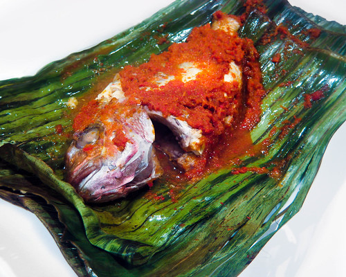 Grilled Snapper on Banana Leaves w Sambal