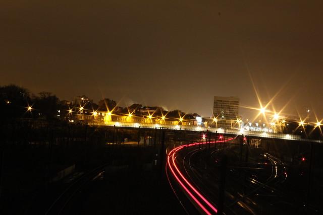 De Thalys op weg naar Leuven station