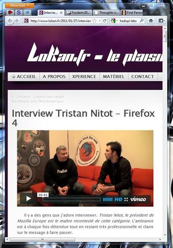 Copie d'écran du blog Lokan.fr