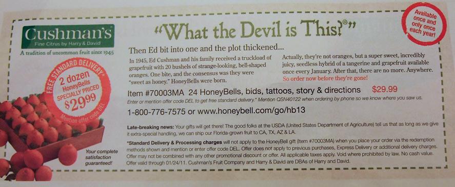 Honeybell ad
