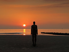 Another place another sunset (Mr Grimesdale) Tags: sunset seascape liverpool gormley crosby antonygormley merseyside anotherplace rivermersey stevewallace mrgrimesdale