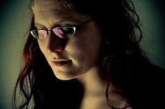 selfportrait glasses redhair jhayne closedeyes