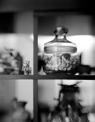"Jar of paper hearts (Darlot Petzval 6"") (Bruce_of_Oz) Tags: 6 large 25 4x5 format pan adox darlot petzval"