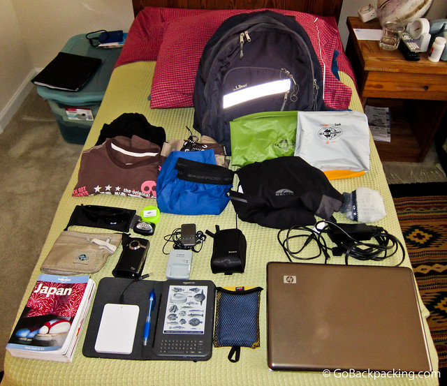 What's in my backpack - Japan trip