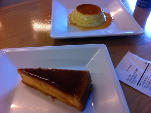 Pandan Flan and Durian Cheesecake
