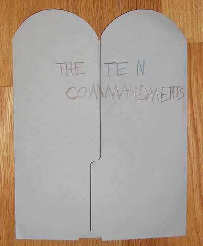 Ten Commandment Lapbook Cover