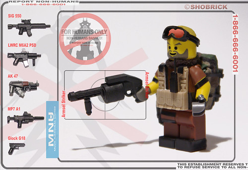Custom minifig MNU striker custom minifig