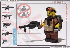 MNU striker (Shobrick) Tags: cat soldier lego district report ak 9 tiny tt vest minifig shotgun custom sig psd non m6 weapons humans striker glock tactical mnu brickarms shobrick armsel