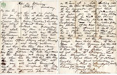 Letter about Prussian relatives, c1871 (P&KC Archive) Tags: germany scotland familyhistory 19thcentury archive genealogy prussia kinross ecsochistory