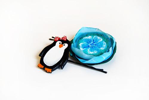 Pinguinul si floarea albastra