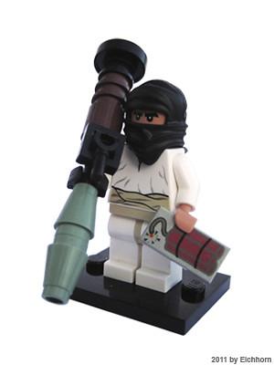 Custom minifig purist lego Terrorist minifigure