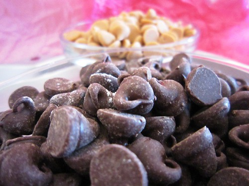 Chocolate and peanut butter chips
