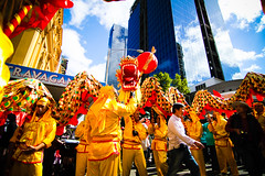 Day29 : Chinese New Year celebrations (BeAsT#1) Tags: china holiday canon town kiss dragon dancing working australia melbourne victoria vic cbd visa   x3 500d   2011 whv