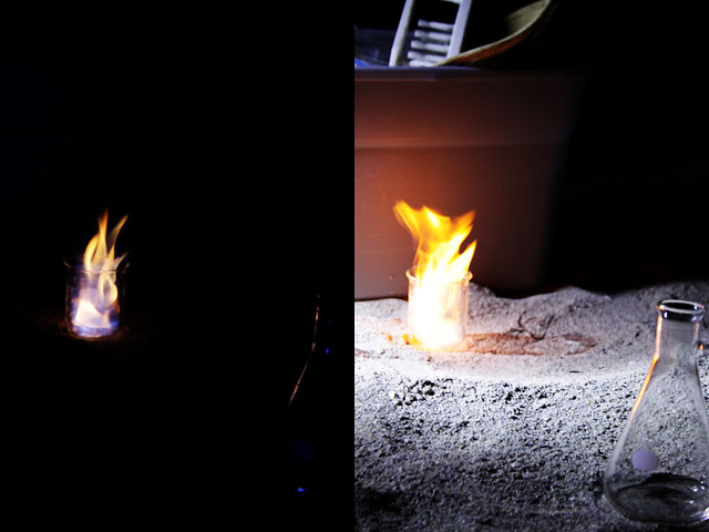 beach science flames