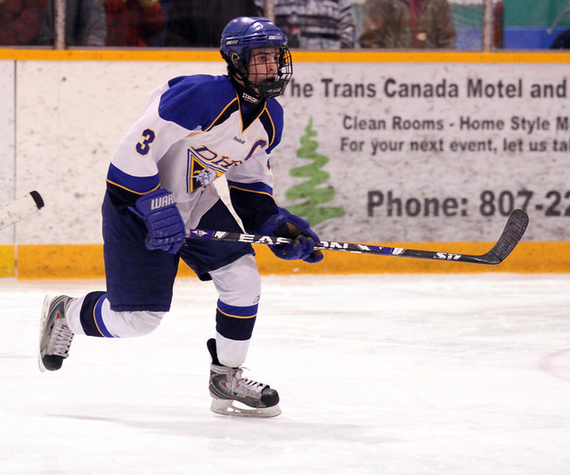 Jared Stratford scored once in the Eagles 5-4 OT loss vs. Fort Frances