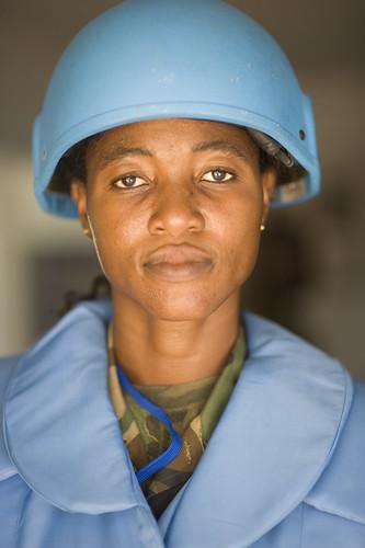 portrait of woman peacekeeper