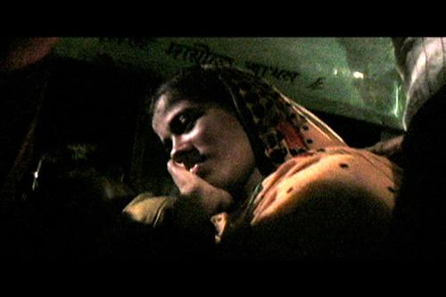 Piya asleep on bus