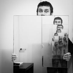 Cloning (PhotobyVéro) Tags: bw paris france square europe cloning double nb clone miroir miror carré clonage éole eole