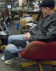 Robert Sits in Chair (Mike WMB) Tags: converse chucks