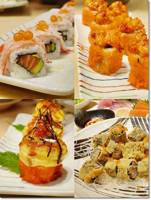 Various Sushi Rolls