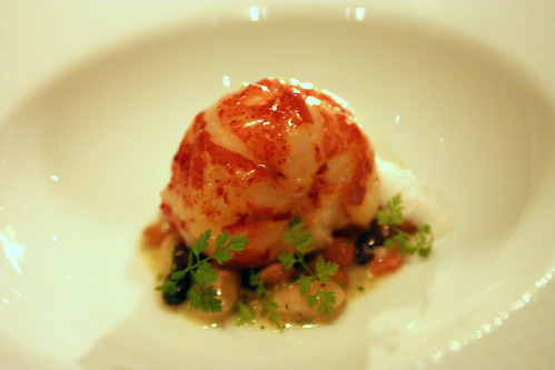 "5b. Butter Poached Nova Scotia Lobster - ""Cassoulet"" of Rancho Gord..."
