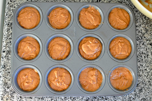 Chocolate Spice Donut Muffins